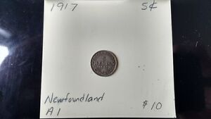 Newfoundland 1917, 1929 five cent pieces