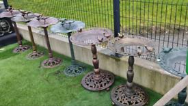 Cast iron garden bird baths