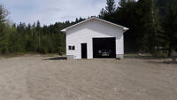 Commercial Lot,with new building on highway 3 Salmo