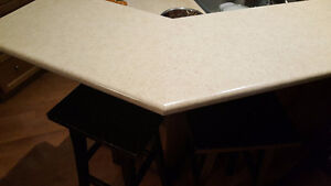 Melamine countertops incl. double sink