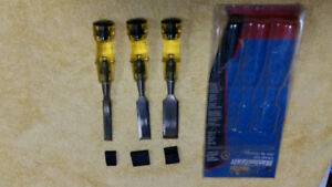 "Mastercraft Chisel Set: 1/2"", 3/4"", 1"""