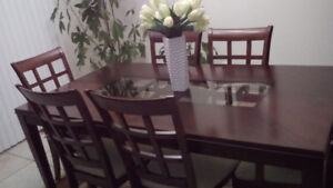 Wood Dining Table including 6 Chairs
