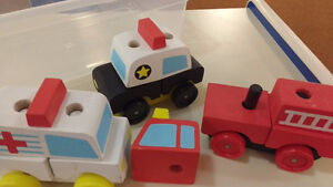 Melissa and Doug Wooden Blocks - Cars