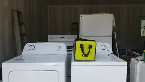 WASHER, DRYER, STOVE