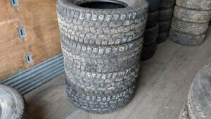 Set of 4 Toyo Open Country AT LT285/70R17 tires (70% tread life)