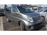 NISSAN ELGRAND CAMPERVAN WITH REAR CONVERSION, ELECTRICS AND LEISURE BATTERY