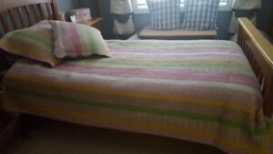 Girls bed spread and pillow shams