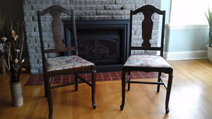 3 Antique Wooden Dining Chairs Cornwall Ontario image 1