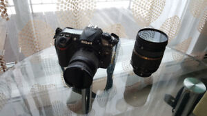 Nikon D200 camera with two lenses