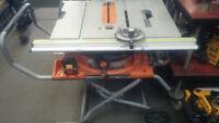 banc de scie ridgid R45101 10 pouce avec racking