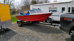 16 foot aluminum boat package