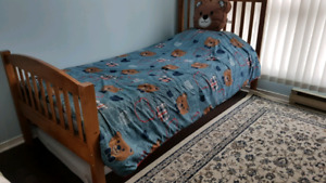Twin bed hard wood