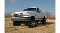 "1980-1995 Ford F-150 and Bronco Rough Country 4"" lift kit"
