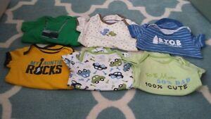 3 to 6 month old boys onesies - $10