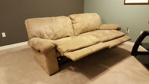 Double Reclining Couch and Matching Chaise Lounge