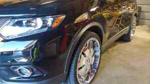 """22"""" Player Rims With Tires (2 New) Windsor Region Ontario image 2"""