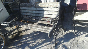 ornate cast iron park bench great lawn decor piece Belleville Belleville Area image 1