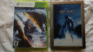 Metal Gear Rising and Lost Planet steelbook XBOX 360