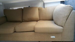 Light brown Sectional Sofa (MUST GO BEFORE FEBRUARY 1st)