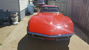 Matching Numbers 1969 Monza Red Corvette
