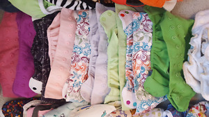 HUGE supply of cloth diapers