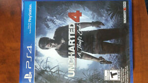 Ps4 Uncharted 4 brand new still in plastic West Island Greater Montréal image 1