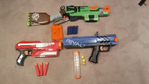 NERF GUNS FOR SALE- Slingfire, Apollo and Magnus GREAT CONDITION