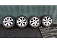 "17"" Audi A4 Alloys with good tyres"