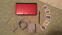 Red Nintendo 3DS XL /w 5 Games + 16gb SDHC Card