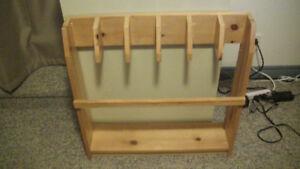 FS: wooden Yoga mat holder