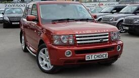2006 LAND ROVER RANGE ROVER SPORT TDV6 HSE LOW MILEAGE RIMINI RED WITH CREAM L