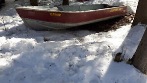 14' Stirling Aluminum boat with 9.5hp Johnson