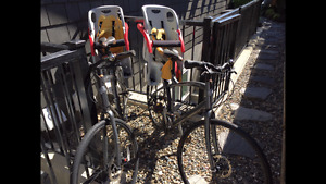 2 Specialized Globe Hybrid Bikes-Child Seat Carriers Included