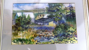 "WATER COLOUR PAINTING BY DAVID WHITZMAN ""SEPT., 1966"""