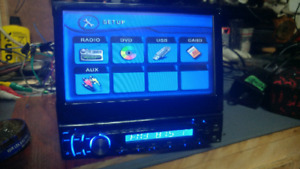 Lanzar CD DVD player with ejecting 7 in touch screen