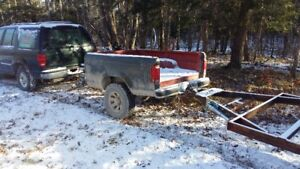16 foot bare frame trailer/dual axle