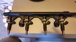 Mini Cooper fuel injectors and fuel rail