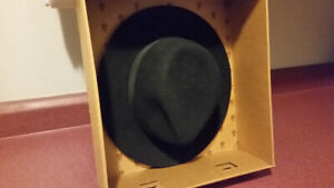 Bailey Curtis style hat, black wool