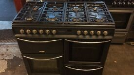 Range black belling gas cooker and electric ovens 100cm