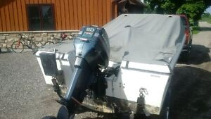 15' Fibreglass Boat with 50hp Envinrude and trailer Stratford Kitchener Area image 4