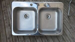 Double Bowl Stainless Topmount sink