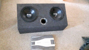 """2-10"""" Subs with box with sony 1200w amp"""