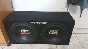Mtx audio Subwoofer and amp