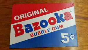 Bazooka Embossed Tin Sign
