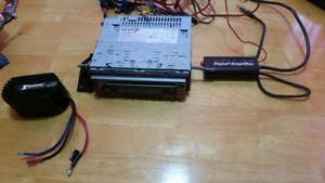 Radio with signal amp and noise filter