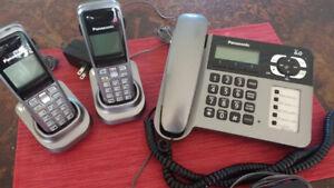 Panasonic, ensemble de 3 téléphones