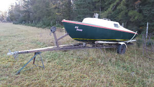 Nice little sail boat and trailer for sale or trade