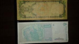 Collection de billet et monnaie canadienne et autres pays !