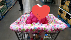 Shopping cart seat cover
