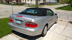 2003 Mercedes Benz CLK 320  Silver with Black top convertible